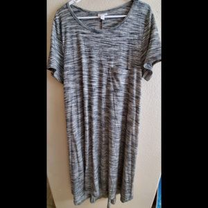 LuLaRoe Carly Gray Large Dress